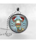 SCORPIO Necklace, Scorpio Pendant, Scorpio Jewelry, Astrology, Zodiac, C... - $12.95