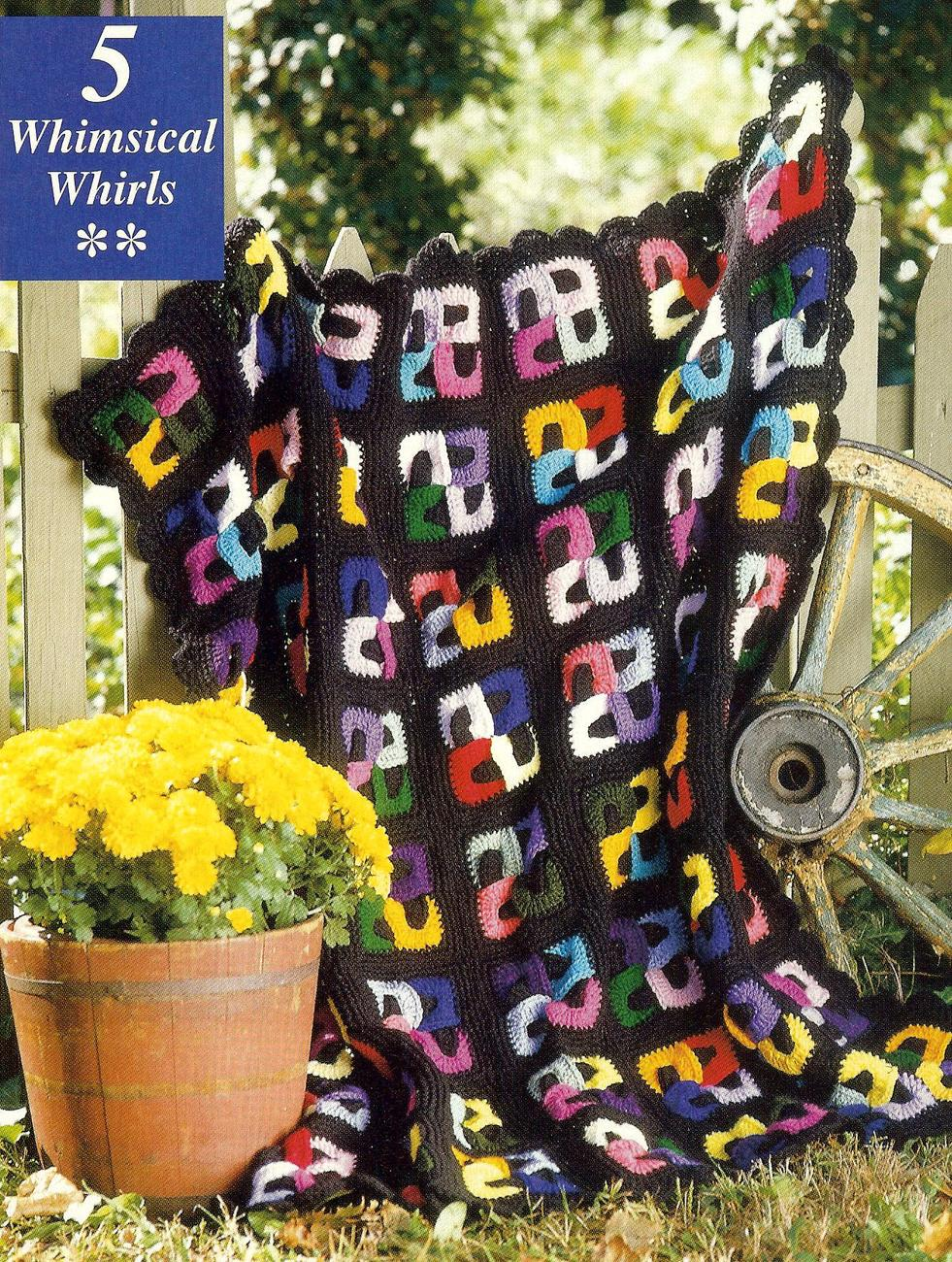 RARE~Crochet Fantasy Afghans Crochet Magazine~20 Designs~Butterfly~Mom & Pup