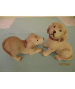 HOMCO #1408 Porcelain Vintage Yellow Lab Puppies set of 2 excellent condition! - $9.75