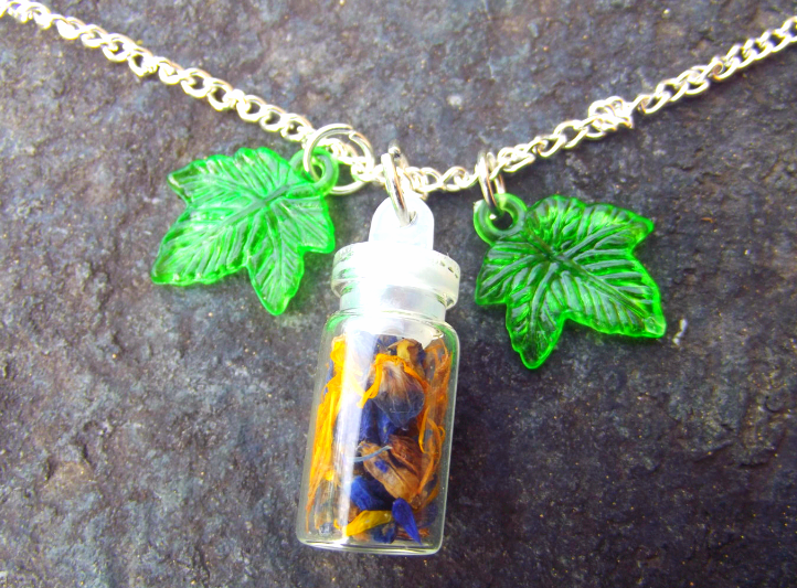 Spiritual Connection Spell Bottle Pendant Necklace