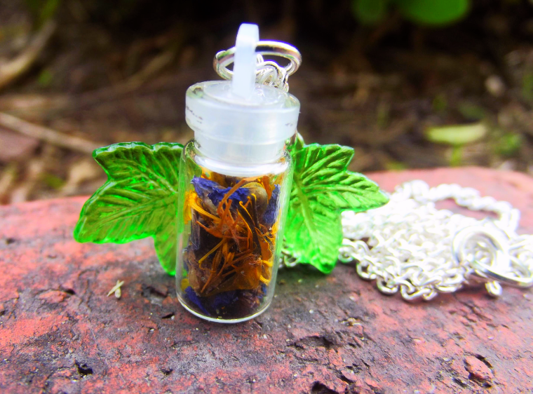 Spiritual Connection Spell Bottle Pendant Necklace