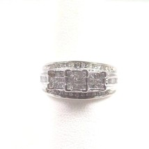 10k White Gold Past Present And Future Women's Diamond Ring - $279.57