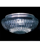 Clear Glass Ribbed Pan Flush Mount Ceiling Ligh... - $16.95