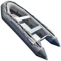 BRIS 1.2mm PVC 14.1ft Inflatable Boat Rescue Raft Power Boat With Free Bimini  image 7