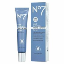 No7 Lift and  Luminate Triple Action Serum 1oz 30ml Fresh Sensitive Skin... - $28.03