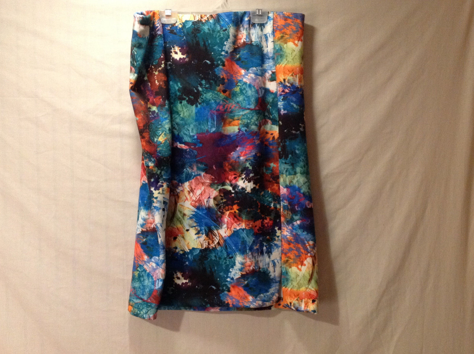 NYCC New York Clothing Company Womens Size XL Skirt Bold Multicolor Painted Look