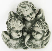 Cherubs Trio Small Concrete Wall Plaque  - $19.00