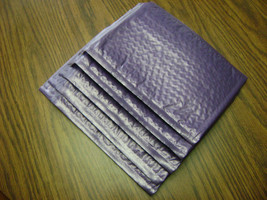 25 4x8 Deep Lavender Bubble Mailer Self Seal Adhesive Envelopes Protecti... - $11.50