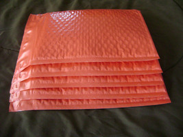25 4x8 Red Bubble Mailer Self Seal Adhesive Envelopes Protective Padded ... - $11.50