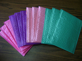40 6x9  Color Bubble Mailer Self Seal Adhesive Envelope Protective Sturd... - $23.45