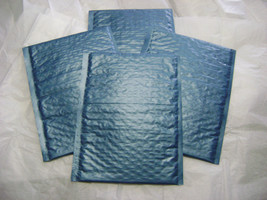 100 Steel Blue 4x8 Bubble Mailer Self Seal Adhesive Envelopes Protective... - $31.75