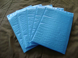 75 4x8 Blue Bubble Mailer Self Seal Adhesive Envelopes Protective Padded... - $26.50