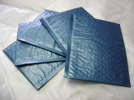 75 4x8 Steel Blue Bubble Mailer Self Seal Adhesive Envelopes Protective ... - $26.50