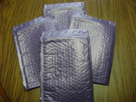 100 Deep Lavender 4x8 Bubble Mailer Self Seal Adhesive Envelopes Protect... - $31.75