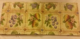 "RARE FLANNEL BACK TABLECLOTH OBLONG 52"" x 70"", (4-6 people) FRUITS # 2 b... - $14.84"