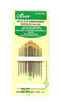 Clover Embroidery Needles Gold Eye Size 3/9 - $5.63