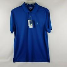 IZOD Men Performance Golf True Blue Short Sleeve Polo Shirt Size Medium ... - $39.95