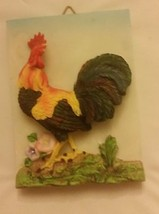"1 rare 3D Wall Art Decor Plaque, Rooster, vertical, 6"" x 4.5"" - $4.99"