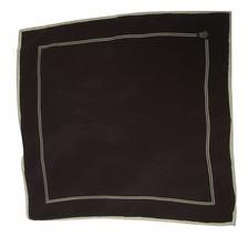 Christian Dior Paris Brown Bone Silk Italy Pocket Square Scarf 15 Inch I... - $29.65