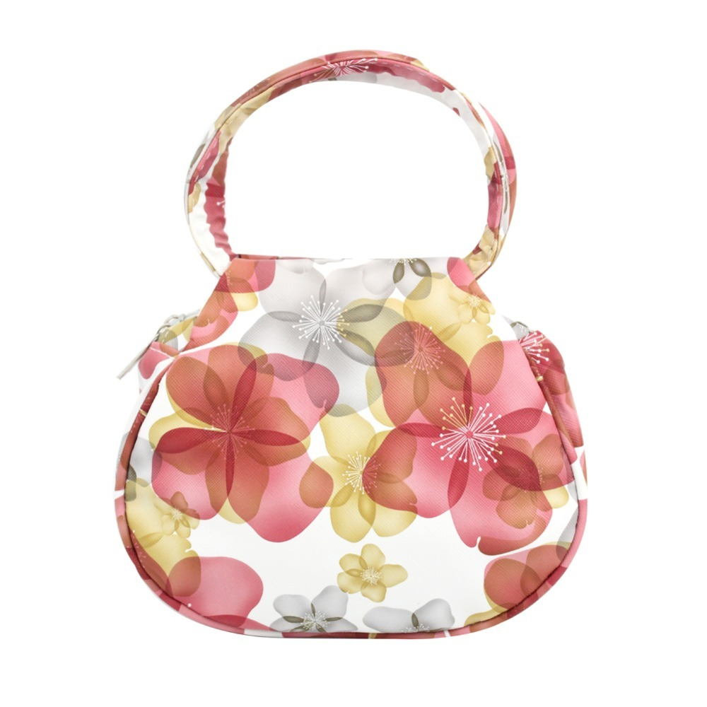 Floral print designer handbags women leather handbag wedding tote bag makeup bags bolsa feminina