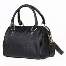 Women Leather Shoulder Bags er Messenger Bag Crossbody Bag Solid Black H... - ₨1,950.29 INR