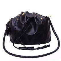 Messenger Bags for Women Leather DrawstrHandbags Bucket Bag er Finge Sho... - ₨1,963.95 INR