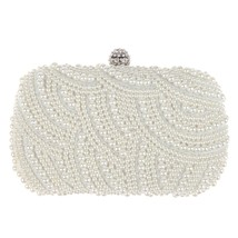 Crystal Pearl Women Vintage EvenBag Women Clutch Purse Handbag Bridal We... - $39.34