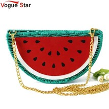 Watermelon Straw Bag Beach Bag Purses and Handbags Crossbody Bags For Wo... - $39.60