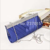 womens Satin evenbags WeddClutch Purse Ladies Clutch Box handbags Purse ... - $53.82