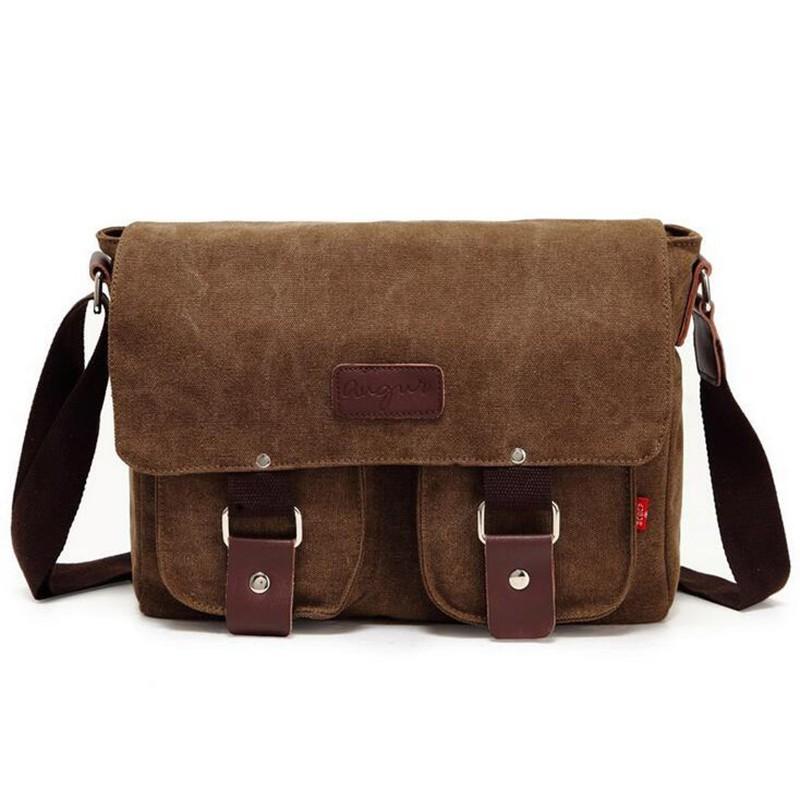 And military men laptop shoulder messenger bag new fashion men s vintage canvas school messenger