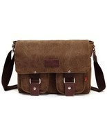 Military Men Laptop Shoulder Messenger Bag Mens Vintage School Messenger... - $55.30