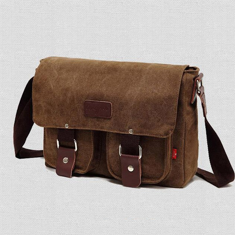Military Men Laptop Shoulder Messenger Bag Mens Vintage School Messenger Bag Sat