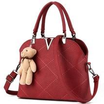 women leather handbags s bags purse ladies messenger bags shoulder bag f... - $60.86