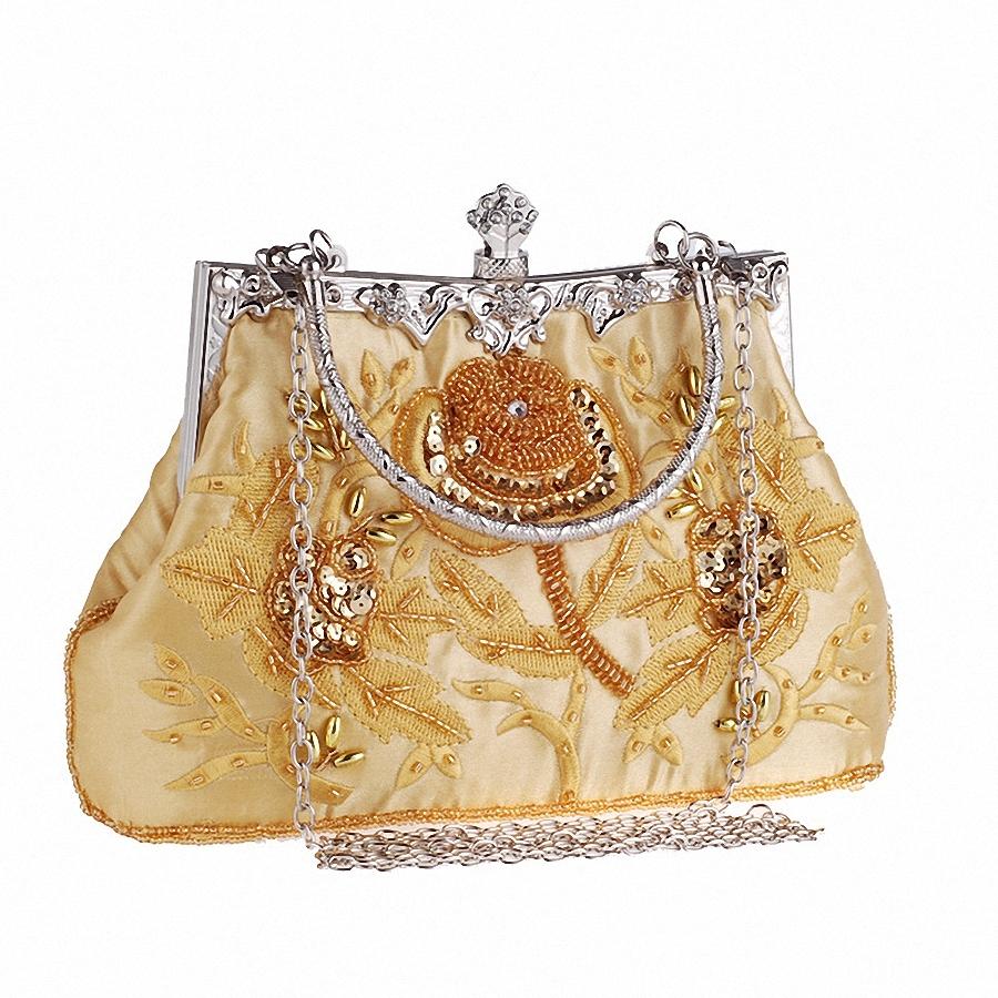 Satin Crystal Clutch EvenBags Women Charm Handbag Party ...