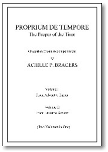 Proprium de tempore the proper of the time   le propore de temps 2 volumes