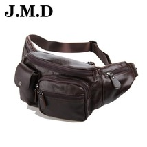 Genuine Leather Mens Waist Bags  Funny Chest Pack Men Waist Pack Men Tra... - $111.82