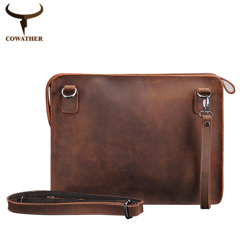 men messenger bags Packet vintage crazy horse leather bag ...