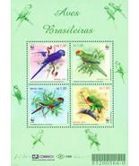 Brazil 2001 WWF , BIRDS, Parrots , M/S MNH - €5,14 EUR