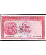 Hong Kong 1982 , HSBC , 100 Dollars , Banknote VF - $38.00