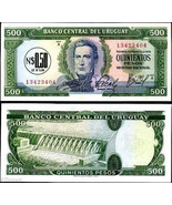 Uruguay 1975 , 0.5 Nuevo Pesos on 500 Pesos , Serie-A Banknote UNC - €3,26 EUR