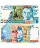 Brazil 1989 * 5 Cruzados Novo on 5000 Cruzados ... - $2.99