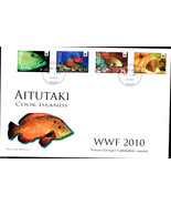 Aitutaki (Cook Is.) 2010 WWF ~~ Fish Groupers ~~  FDC - $110,65 MXN