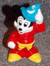 Disney Mickey Mouse Fantasia Wizard Ceramic Fig... - $19.99