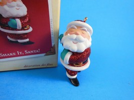 Handcrafted Hallmark Keepsake Ornament Shake it Santa Dancing  Santa NIB... - $4.20