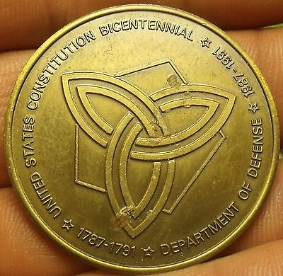 Primary image for Departmant Of Defense Constitution Bicentennial Medallion~39.2mm~Free Shipping