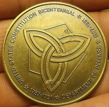 Departmant Of Defense Constitution Bicentennial Medallion~39.2mm~Free Shipping - $10.87