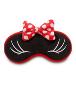 disney parks plush sleep eye mask minnie mouse bow new sealed - $18.79