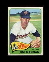 1965 Topps #394 Jim Hannah EX Senators *14643* - $2.99