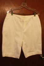 NwoT St. John's Bay Ivory Bermuda Shorts - Size 12 - $14.99