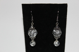 Crystal glass dangle earrings - $9.00